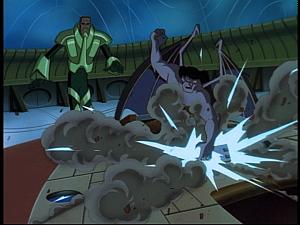 Disney Gargoyles - Sentinel - goliath tears up controls