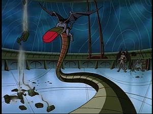Disney Gargoyles - Sentinel - laser snake blasts