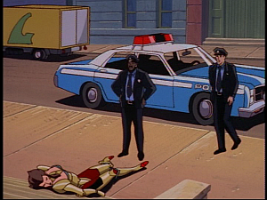 Disney Gargoyles - The Green - cops find hyena