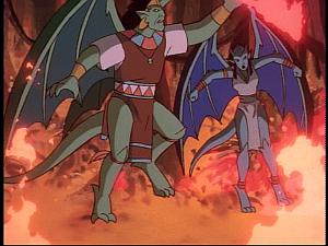 Disney Gargoyles - The Green - forest fire