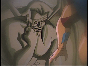 Disney Gargoyles - The Green - jackal face on gargoyle