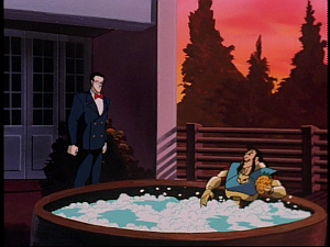 Disney Gargoyles - The Green - vogel, jackal at villa, hot tub