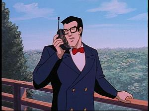 Disney Gargoyles - The Green - vogel on phone