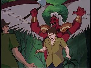 Disney Gargoyles - The Green - zaphiro scares farmers