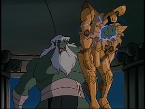 Disney Gargoyles - The New Olympians - cyclops destroys talos