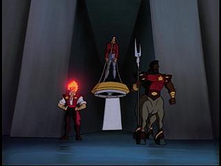 Disney Gargoyles - The New Olympians - guards and prisoner elisa