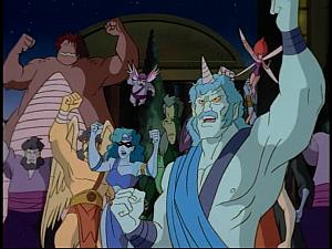 Disney Gargoyles - The New Olympians - olympus mob