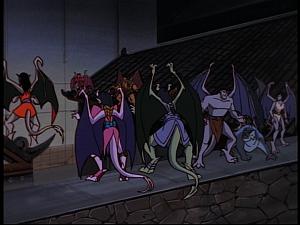 Disney Gargoyles - Bushido - gargoyles face different