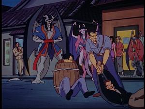 Disney Gargoyles - Bushido - thugs caught