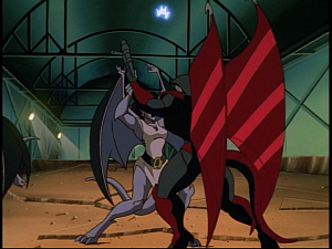 Disney Gargoyles - Cloud Fathers - angela xanatos fight