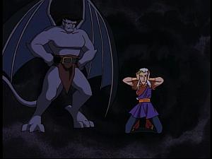 Disney Gargoyles - Future Tense - goliath mad at puck
