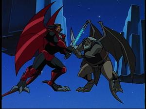 Disney Gargoyles - Future Tense - xanatos and hudson fight