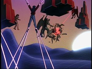 Disney Gargoyles - Future Tense - xanatos blasts gargoyles