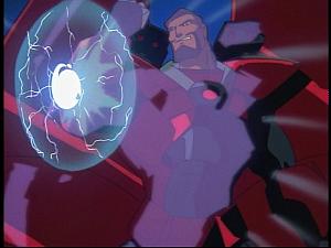 Disney Gargoyles - Future Tense - xanatos blocks energy blast