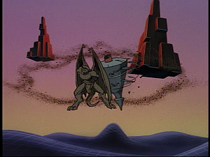 Disney Gargoyles - Future Tense - xanatos grinds goliath