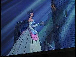 Disney Gargoyles - Future Tense - xanatos hologram with woman
