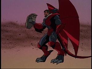 Disney Gargoyles - Future Tense - xanatos with goliath's head