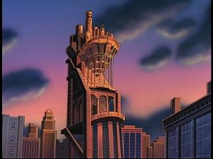Disney Gargoyles - The Gathering - eyrie building establishing shot
