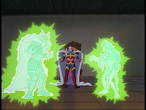 Disney Gargoyles - The Gathering - oberon freezes odin and banshee