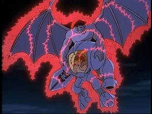 Disney Gargoyles - The Reckoning - armor zaps goliath demonaDisney Gargoyles - The Reckoning - armor zaps goliath demona