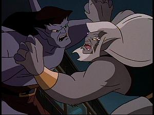 Disney Gargoyles - Vendettas - golath vs wolv