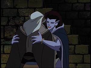 Disney Gargoyles - the Gathering - angela hugs hudson