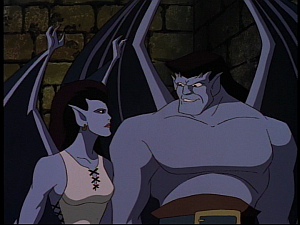 Disney Gargoyles - the Gathering - goliath and angela