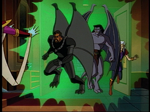 Disney Gargoyles - the Gathering part 2 - titania stops puck goliath xanatos