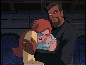Disney Gargoyles - the Gathering - xanatos comforts alex and fox