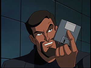 Disney Gargoyles - the Gathering - xanatos with floppy disc