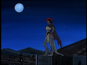Disney Gargoyles - Hunter's Moon part 2 - demona on roof