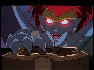 Disney Gargoyles - Hunter's Moon part 2 - demona steals tablet