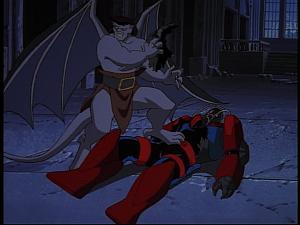 Disney Gargoyles - Hunter's Moon part 3 - goliath rips into jons armor