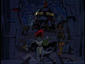 Disney Gargoyles - Hunter's Moon part 3 - hunters aircraft crashes into cathedray
