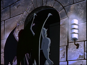 Disney Gargoyles - Possession - angela and broadway elevator