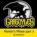 Disney Gargoyles logo with Goliath hunter's moon 3 cont