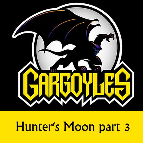 Disney Gargoyles logo with Goliath hunter's moon 3