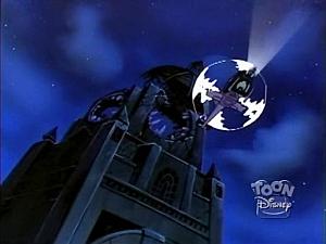 Disney Gargoyles - the Journey - blown up clock tower
