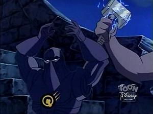 Disney Gargoyles - the Journey - goliath takes hammer
