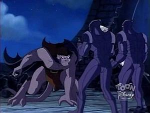 Disney Gargoyles - the Journey - goliath vs quarrymen